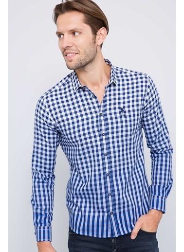 Ekoseli Slim Fit Uzun Kollu Gömlek-U.S.Polo Assn.